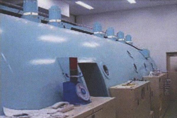 実験で使用した医療用高気圧システム